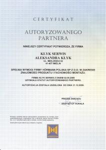 Certyfikat autoryzowanego partnera
